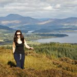 Walker above Loch Lomond