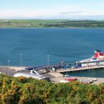 Ferry leaving Cairnryan for Belfast