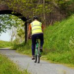 Cyclist on the Way near Udny Station