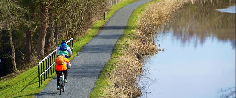 Upgraded towpath by the Union Canal, Falkirk