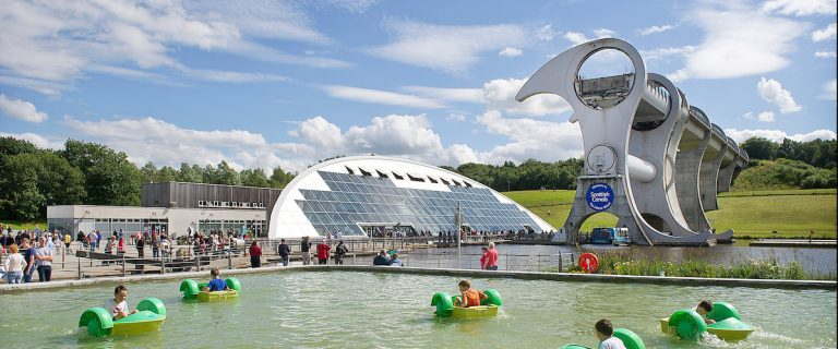 Water play area at The Falkirk Wheel