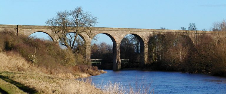 River Teviot at Roxburgh Viaduct