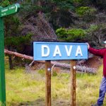 Platform sign restored at Dava's former station