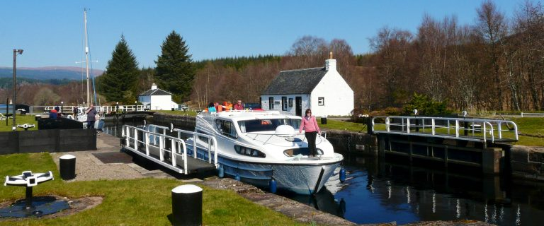 Passing through Cullachy Lock