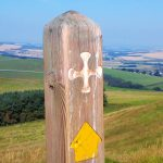 St Cuthbert's Way waymarker