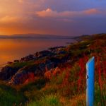 Late sunset (July, 10 pm) over the Kintyre Way